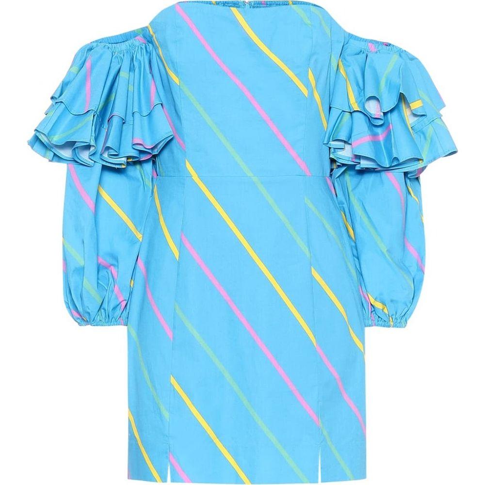 ローテート ROTATE BIRGER CHRISTENSEN レディース ワンピース ワンピース・ドレス【Bethany cotton minidress】80s Stripe Aop