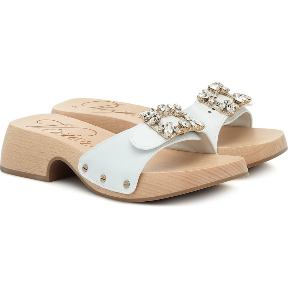 ロジェ ヴィヴィエ Roger Vivier レディース サンダル・ミュール シューズ・靴【Viv' Clogs leather sandals】Bianco