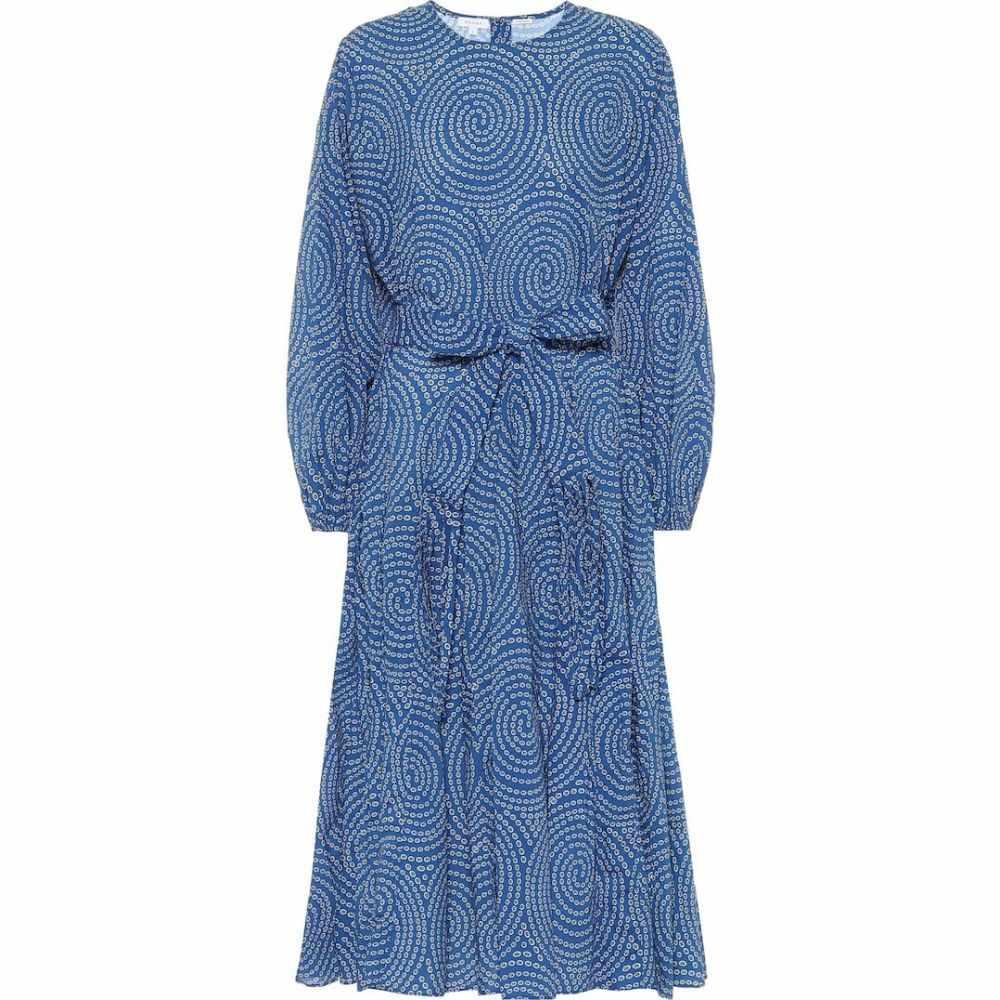 ロードリゾート RHODE レディース ワンピース ミドル丈 ワンピース・ドレス【Devi printed cotton midi dress】Blue Trail
