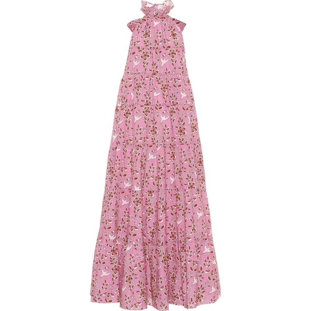 ロードリゾート RHODE レディース ワンピース ミドル丈 ワンピース・ドレス【Julia floral cotton midi dress】Pink Eden
