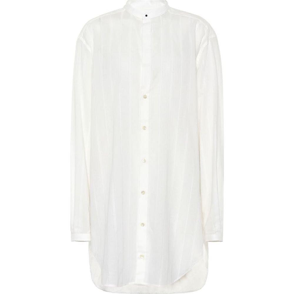 イヴ サンローラン Saint Laurent レディース ブラウス・シャツ トップス【Oversized cotton shirt】White