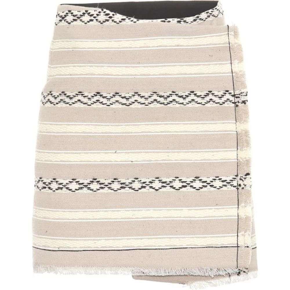 イヴ サンローラン Saint Laurent レディース スカート ラップスカート【Wool and cotton wrap skirt】Beige/Black