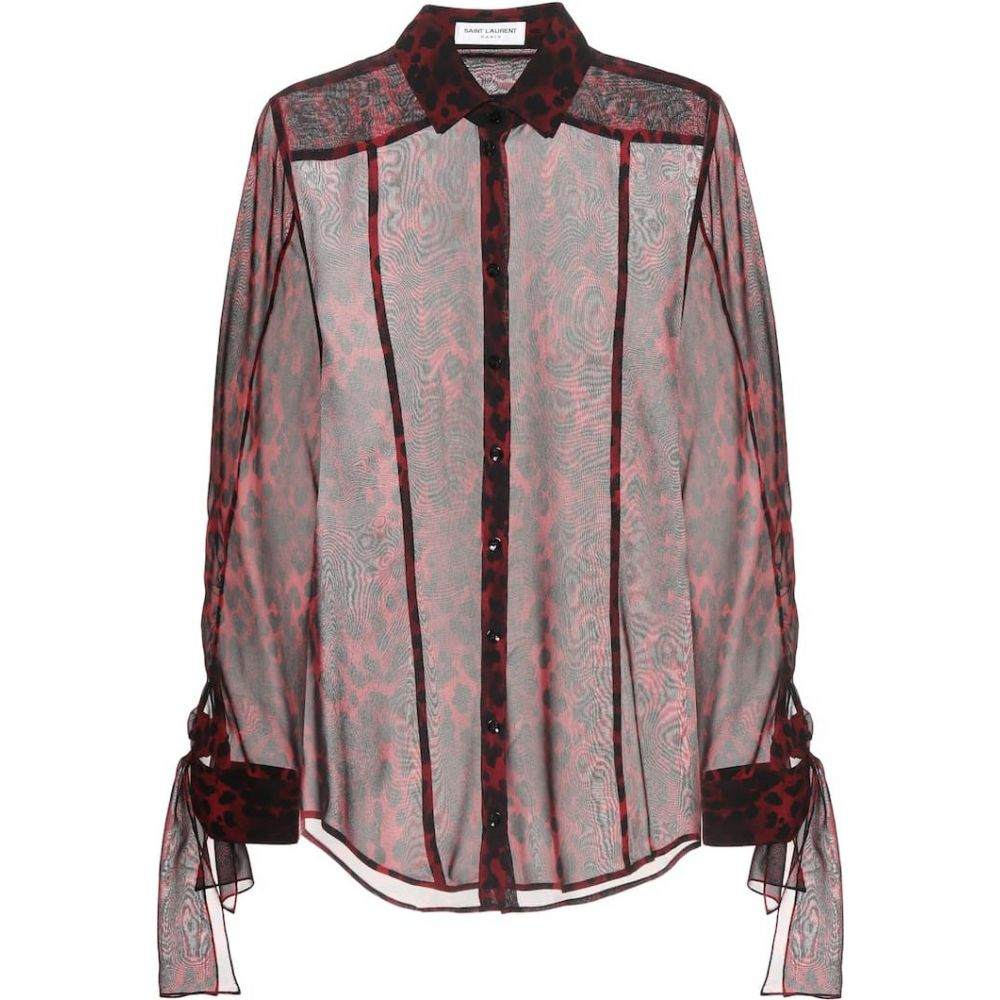 イヴ サンローラン Saint Laurent レディース ブラウス・シャツ トップス【Silk blouse】Rouge