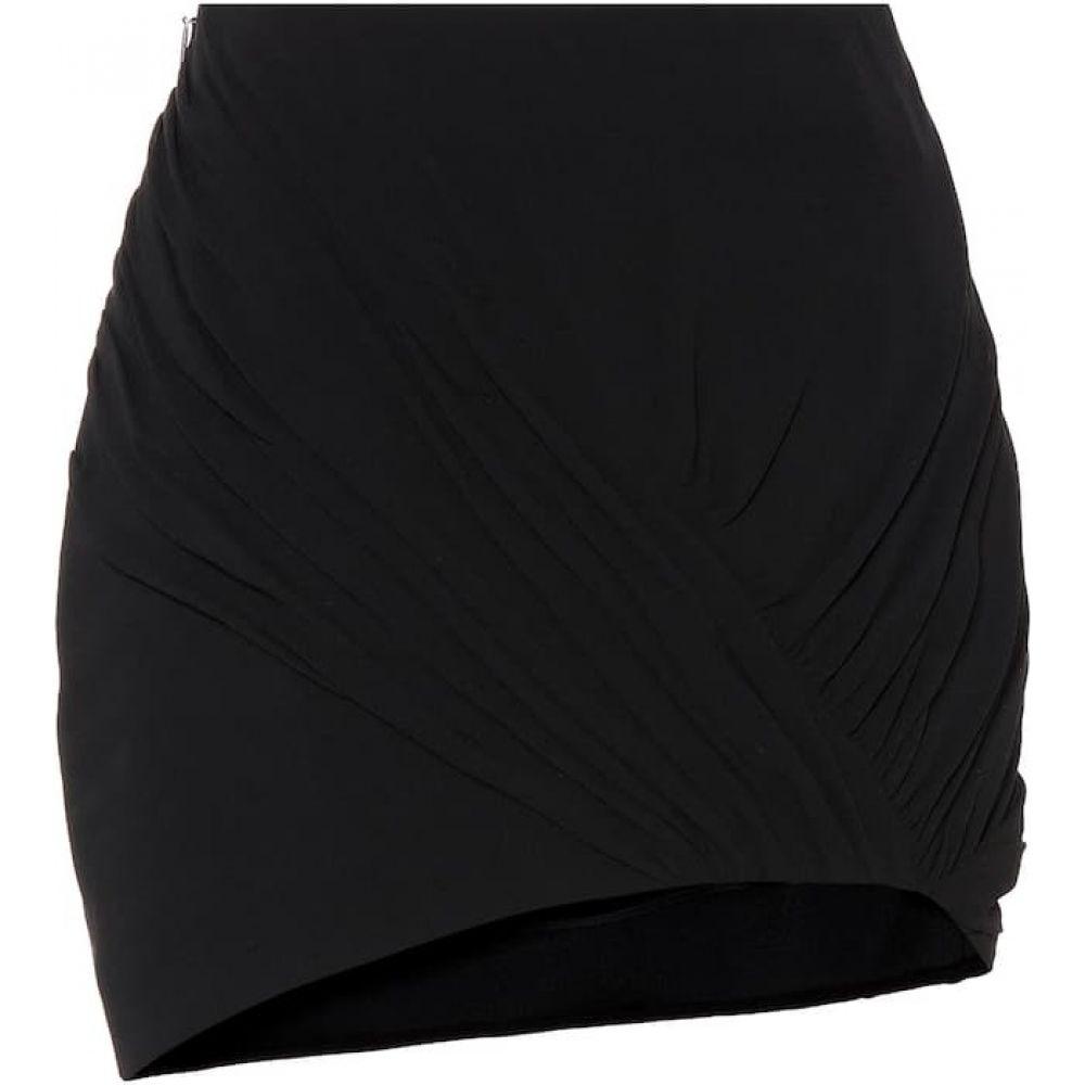 イヴ サンローラン Saint Laurent レディース ミニスカート スカート【Wool and silk asymmetric miniskirt】Black