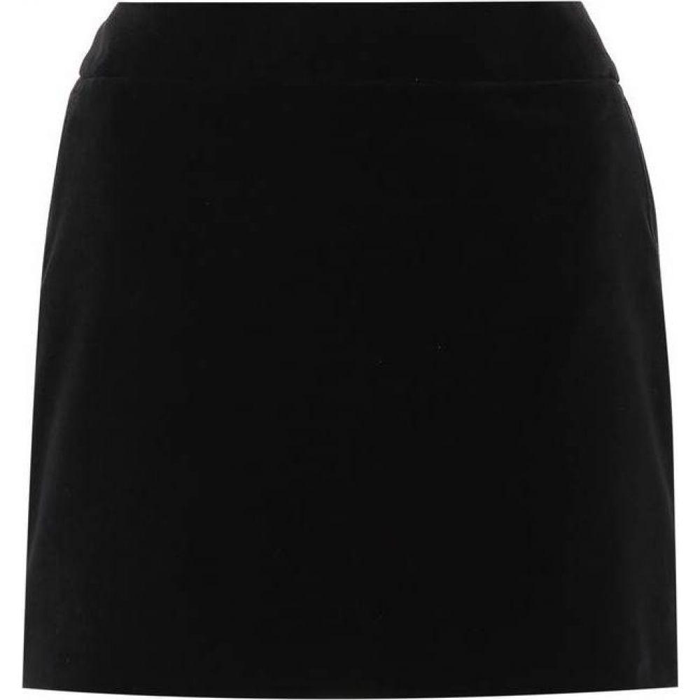 イヴ サンローラン Saint Laurent レディース ミニスカート スカート【Velvet miniskirt】Black