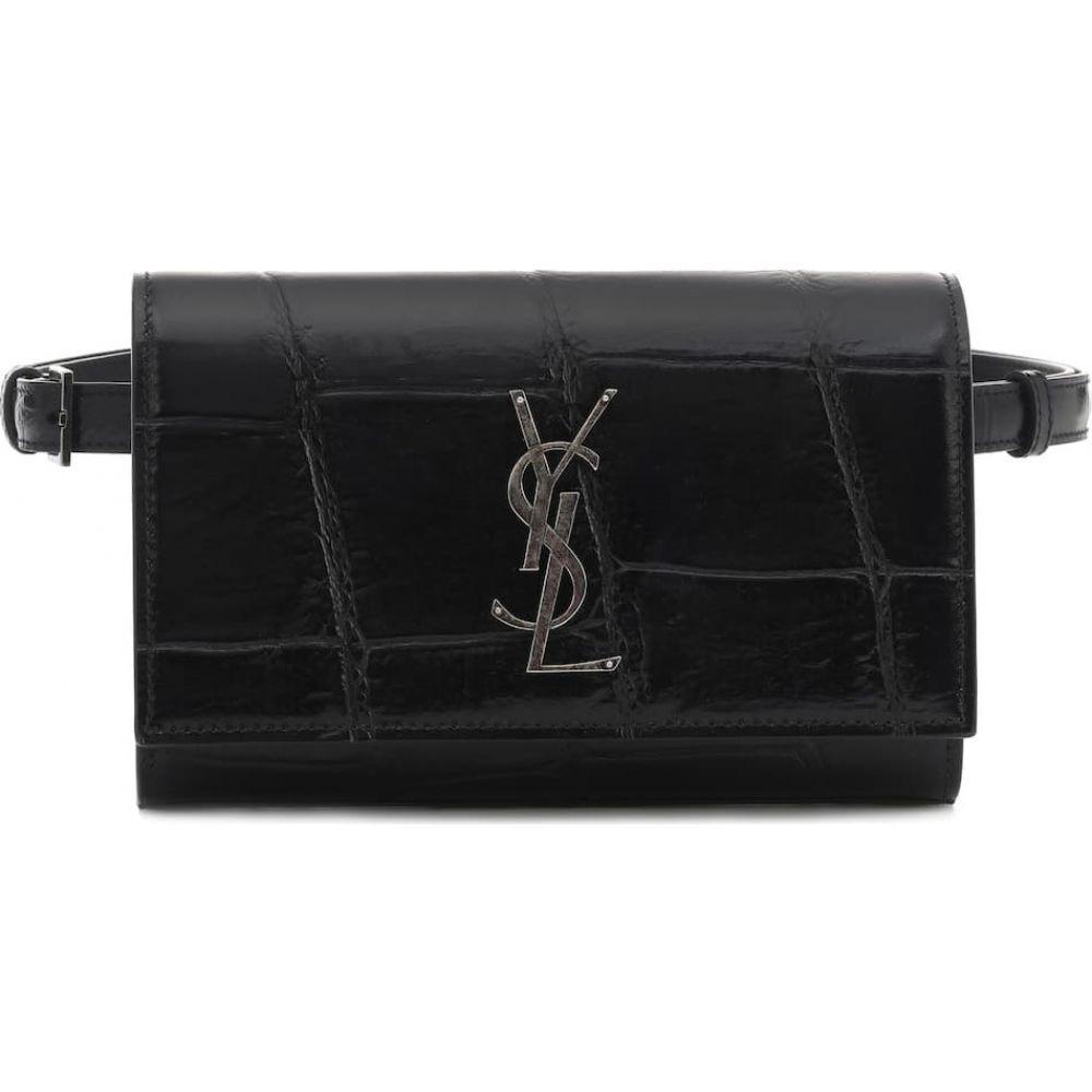 イヴ サンローラン Saint Laurent レディース ボディバッグ・ウエストポーチ バッグ【Kate leather belt bag】Nero