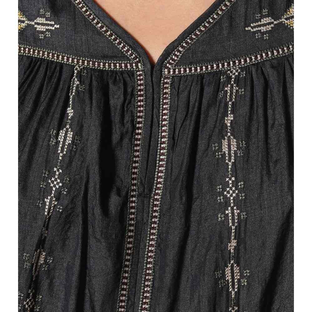 イザベル マラン Isabel MarantEtoile レディース ワンピース ワンピース・ドレス Toscaline silk minidress Faded BlackHWI29ED