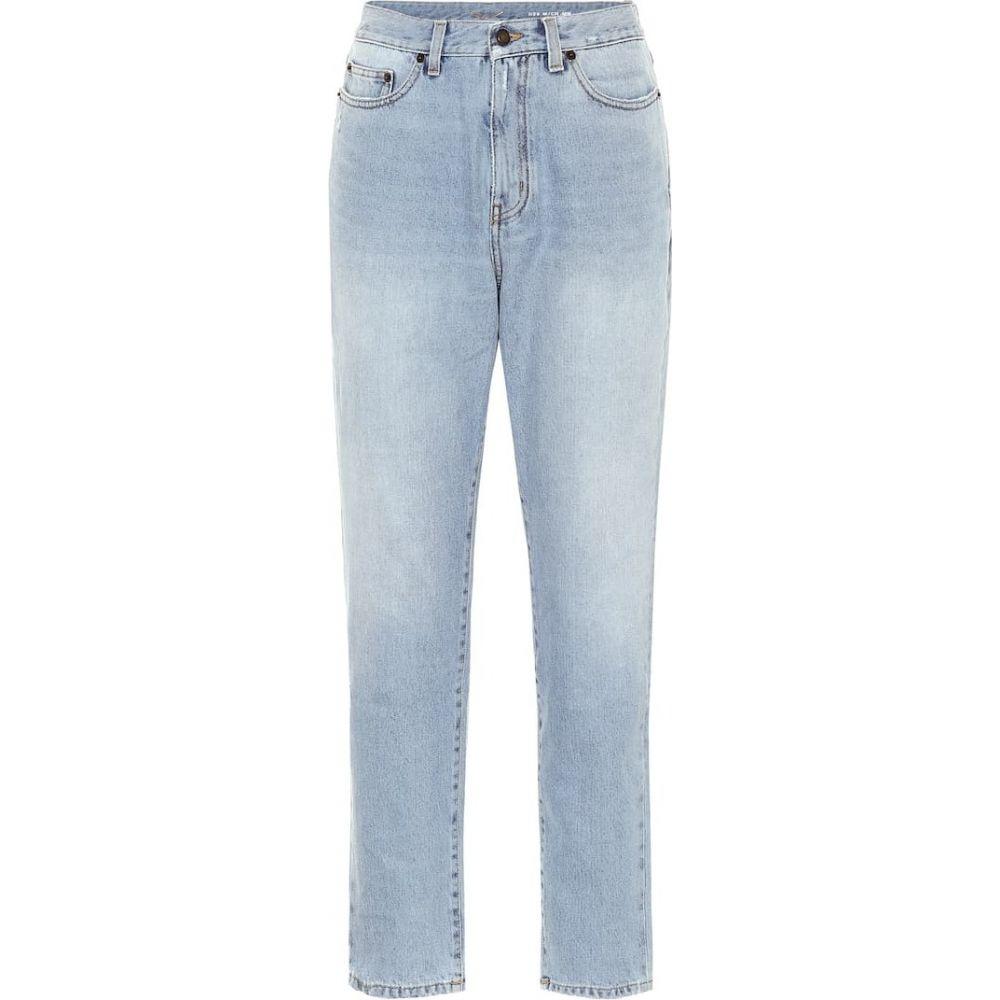 イヴ サンローラン Saint Laurent レディース ジーンズ・デニム ボトムス・パンツ【High-rise carrot jeans】Tullum Blue