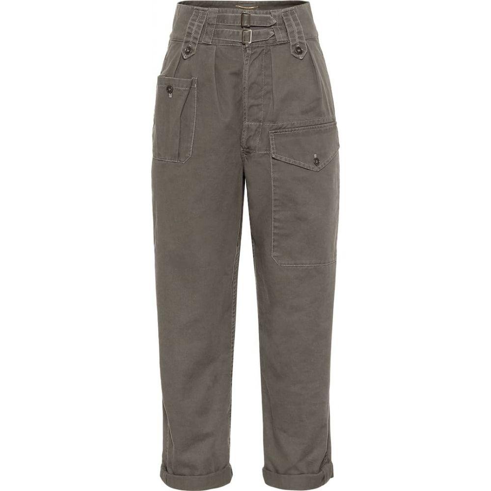 イヴ サンローラン Saint Laurent レディース カーゴパンツ ボトムス・パンツ【High-rise cotton-blend cargo pants】Orage