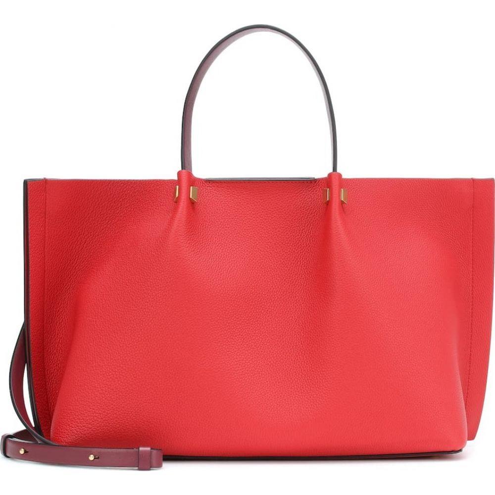 ヴァレンティノ Valentino レディース トートバッグ バッグ【Garavani VLOGO Escape Medium leather tote】Rouge Pur Cerise/Rouge Pur