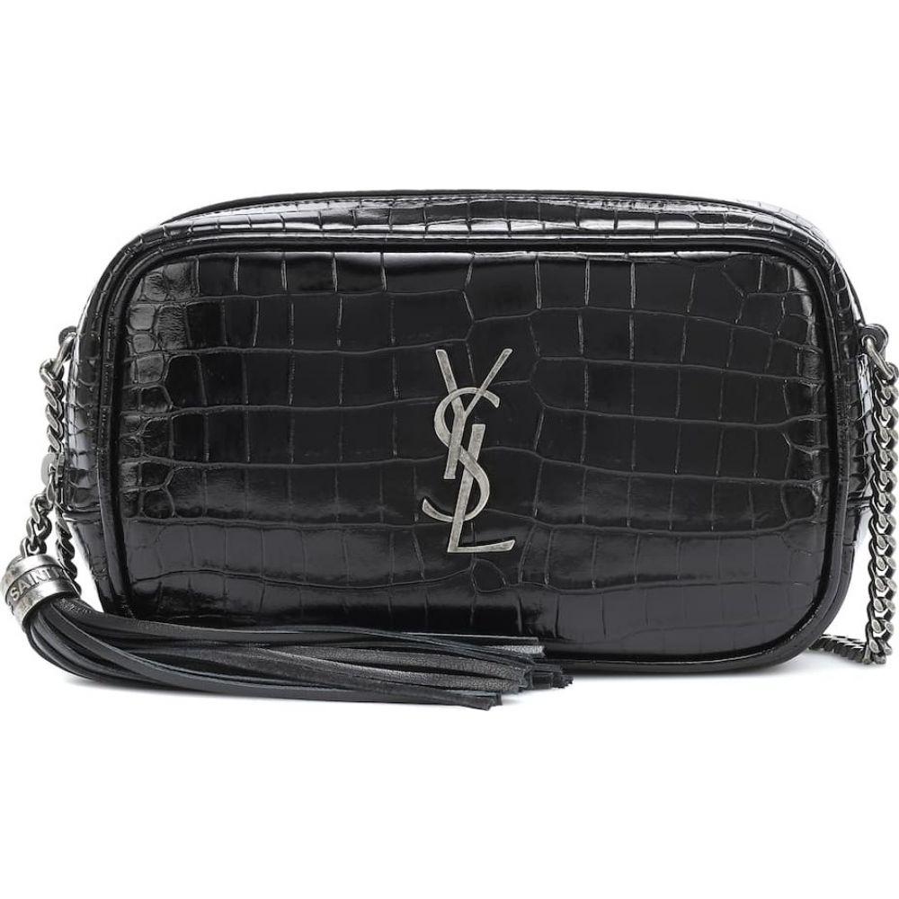 イヴ サンローラン Saint Laurent レディース ショルダーバッグ バッグ Lou Mini leather crossbody bag Noir 人気SALE,正規品