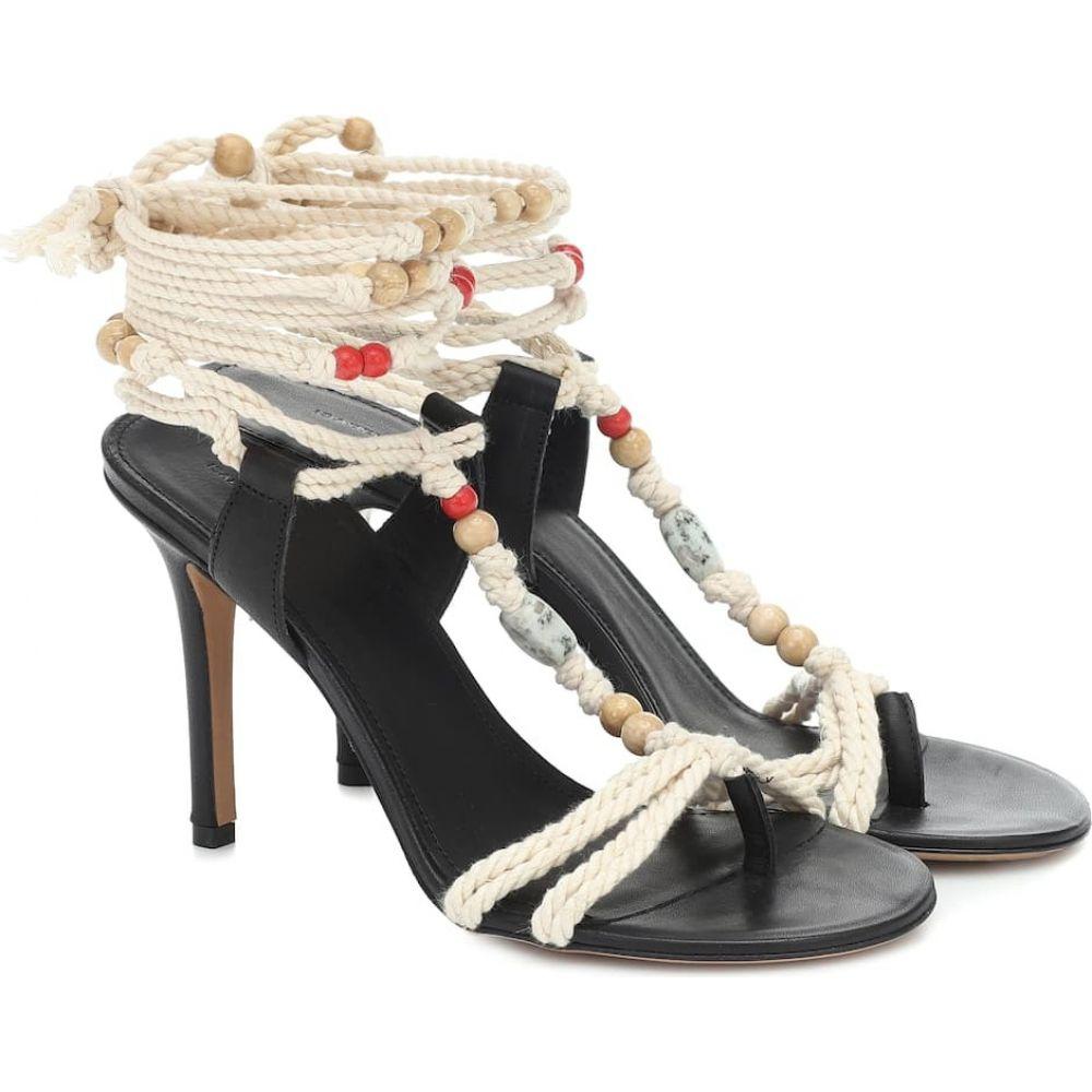 イザベル マラン Isabel Marant レディース サンダル・ミュール シューズ・靴【Ampoi embellished leather sandals】Ecru