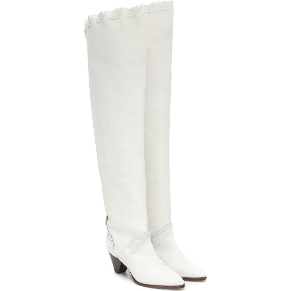 イザベル マラン Isabel Marant レディース ブーツ シューズ・靴【Luiz suede over-the-knee boots】White