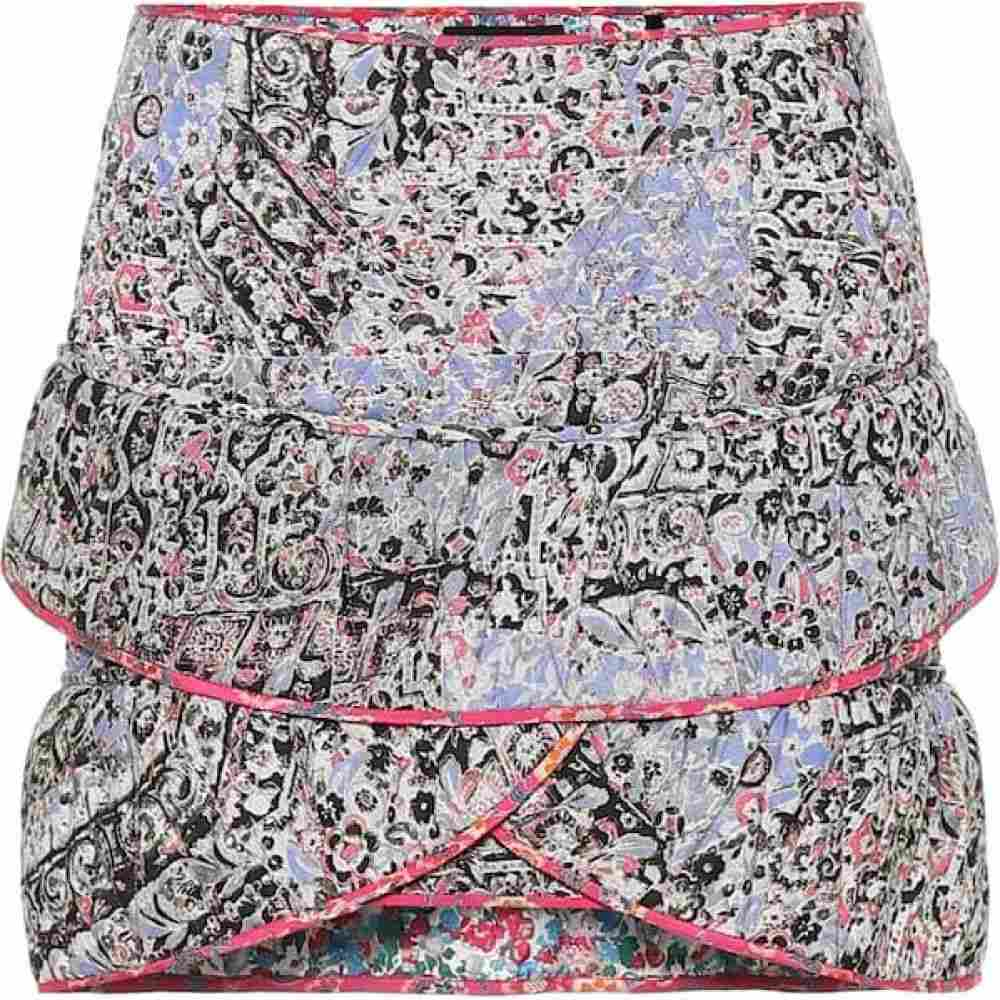 イザベル マラン Isabel Marant レディース ミニスカート スカート【Fanulia floral cotton-blend miniskirt】Blue