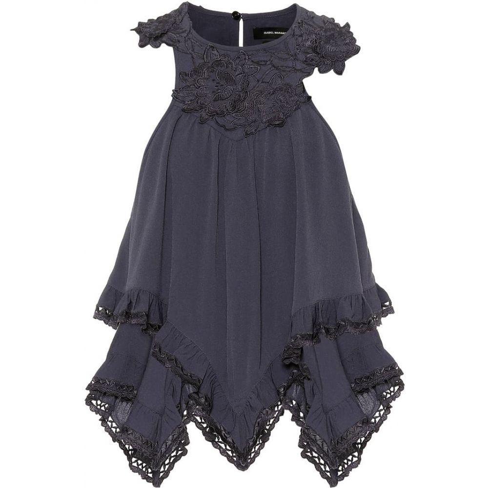 イザベル マラン Isabel Marant レディース ノースリーブ トップス【Lupita appliqued crepe blouse】Faded Night
