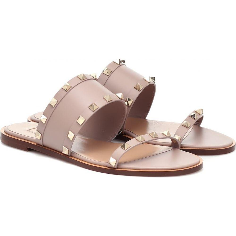 ヴァレンティノ Valentino レディース サンダル・ミュール シューズ・靴【Garavani Rockstud leather sandals】Poudre