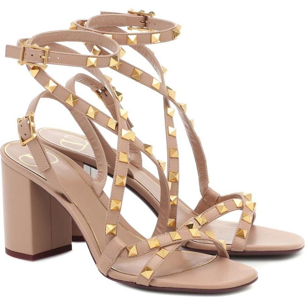 ヴァレンティノ Valentino レディース サンダル・ミュール シューズ・靴【Garavani Rockstud leather sandals】Rose Cannelle