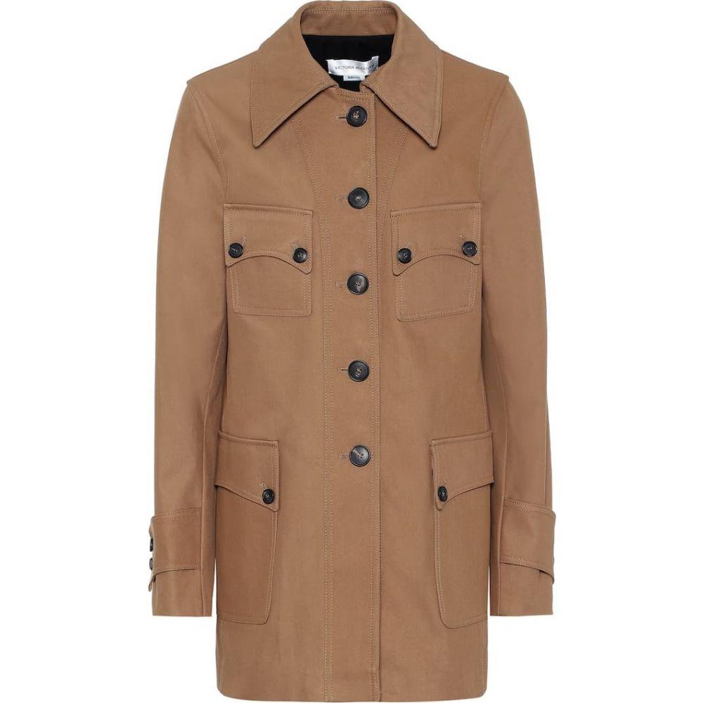 ヴィクトリア ベッカム Victoria Beckham レディース ジャケット アウター【Saharan cotton jacket】Camel