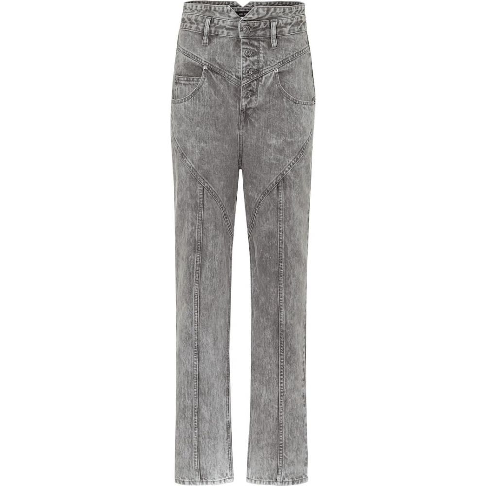 イザベル マラン Isabel Marant レディース ジーンズ・デニム ボトムス・パンツ【Exclusive to Mytheresa - Anastasia high-rise straight jeans】Light Grey