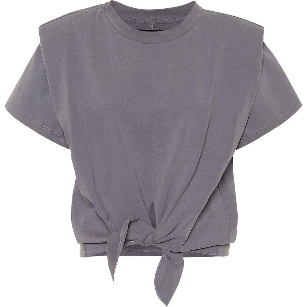 イザベル マラン Isabel Marant レディース ベアトップ・チューブトップ・クロップド トップス【Exclusive to Mytheresa - Belita cotton-jersey crop top】Grey Blue