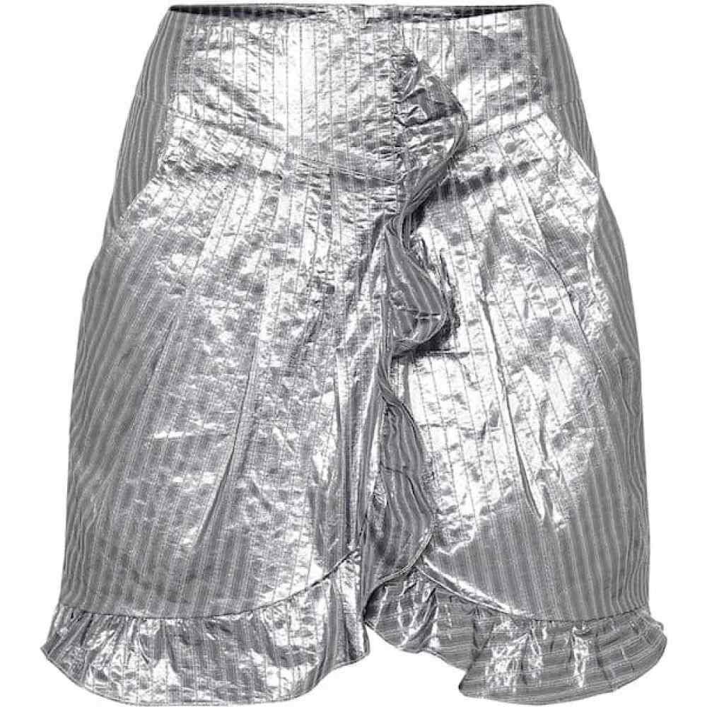 イザベル マラン Isabel Marant レディース ミニスカート スカート【Exclusive to Mytheresa - Mucius striped metallic miniskirt】Metallic Blue