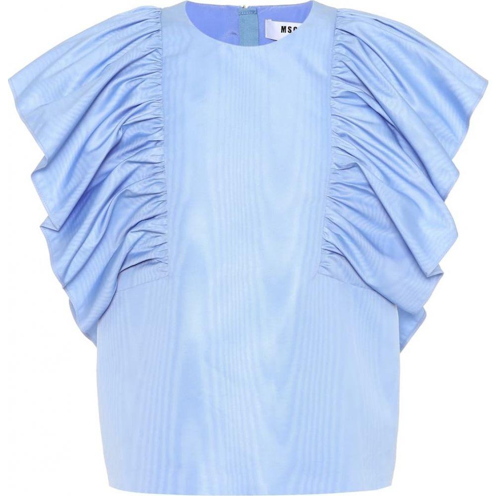 エムエスジーエム MSGM レディース ノースリーブ トップス【Sleeveless top】Blue
