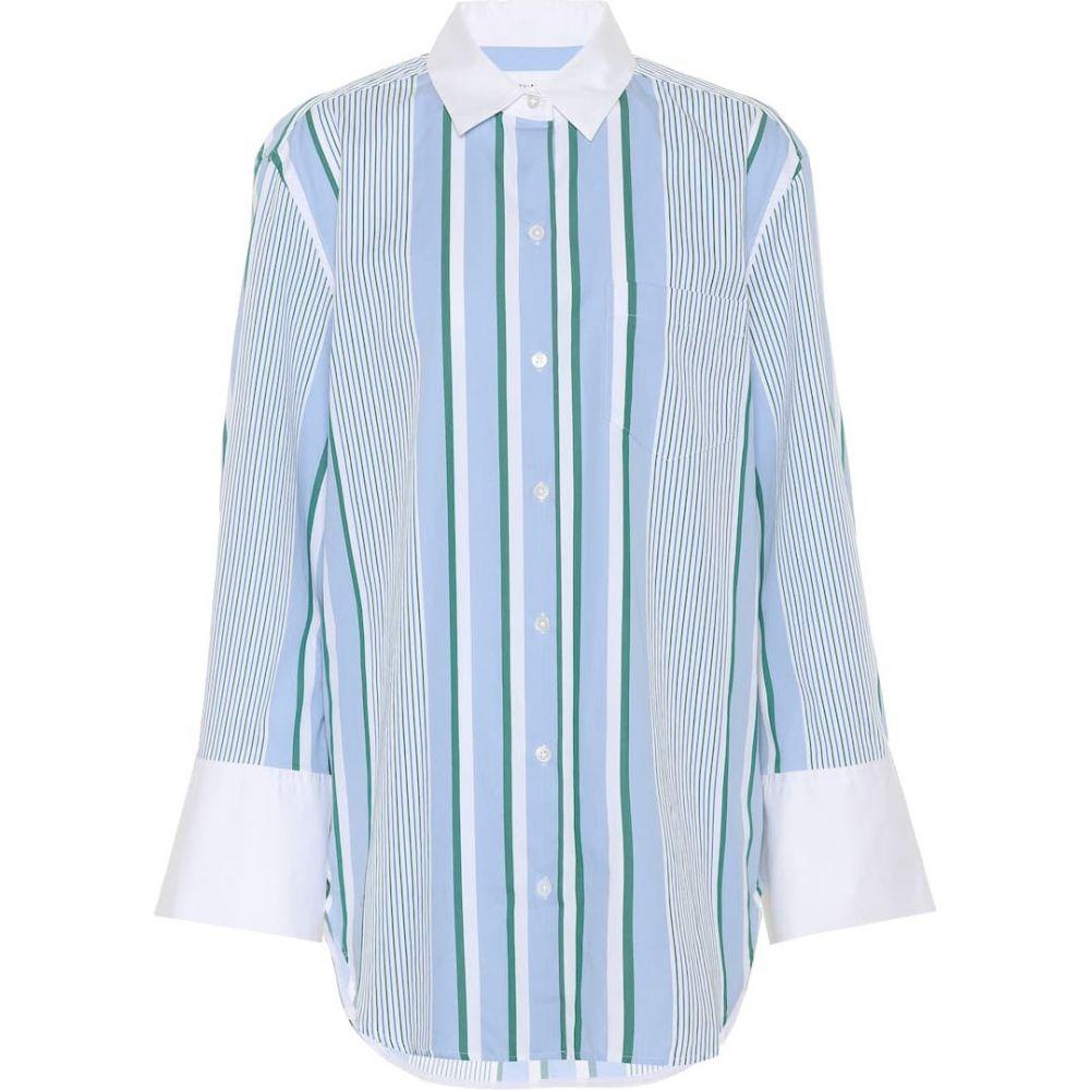 エキプモン Equipment レディース ブラウス・シャツ トップス【Striped cotton shirt】Aerial Blue Multi