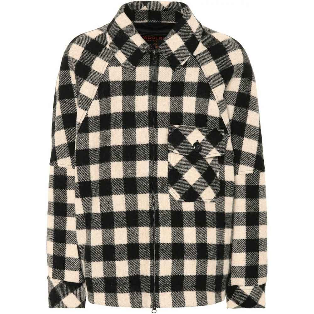 ウールリッチ Woolrich レディース ジャケット アウター【Exclusive to Mytheresa - checked wool-blend jacket】white/black