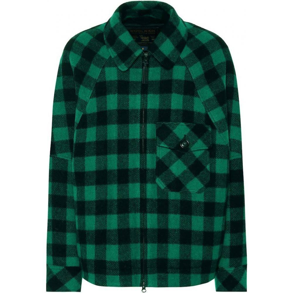 ウールリッチ Woolrich レディース ジャケット アウター【Exclusive to Mytheresa - checked wool-blend jacket】green/black