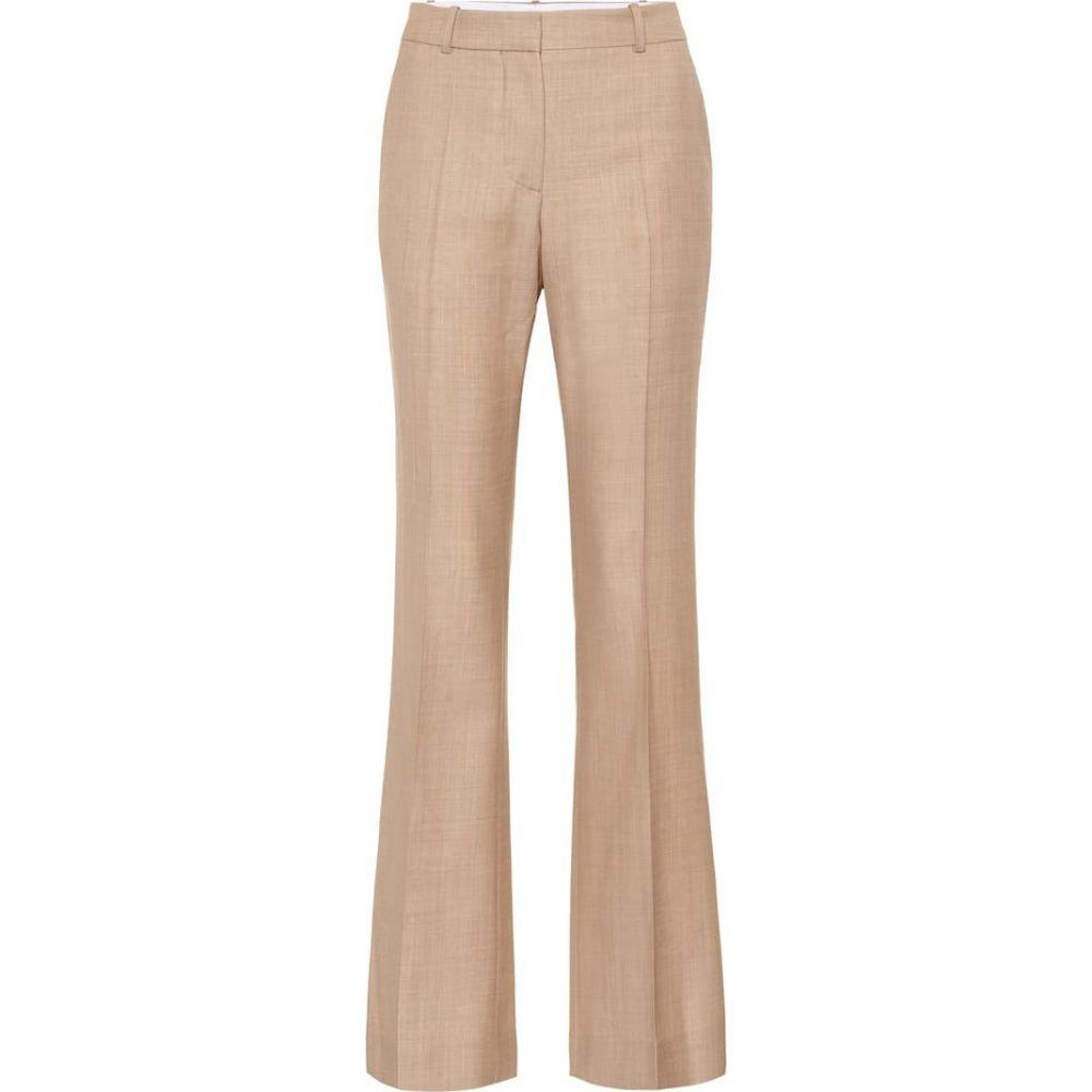 ヴィクトリア ベッカム Victoria Beckham レディース ボトムス・パンツ 【Wool high-rise flared pants】Light Beige-White