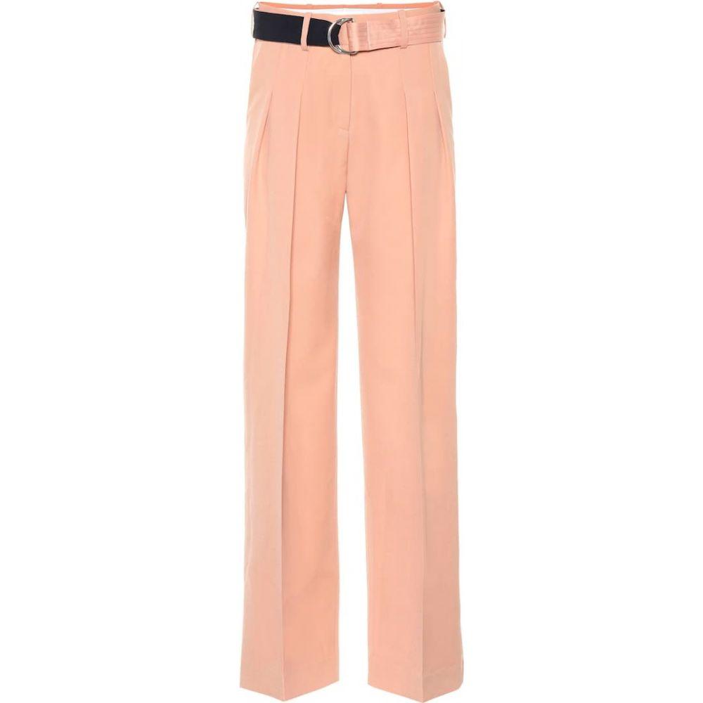 ヴィクトリア ベッカム Victoria Victoria Beckham レディース ボトムス・パンツ 【Mid-rise wide-leg wool pants】peach