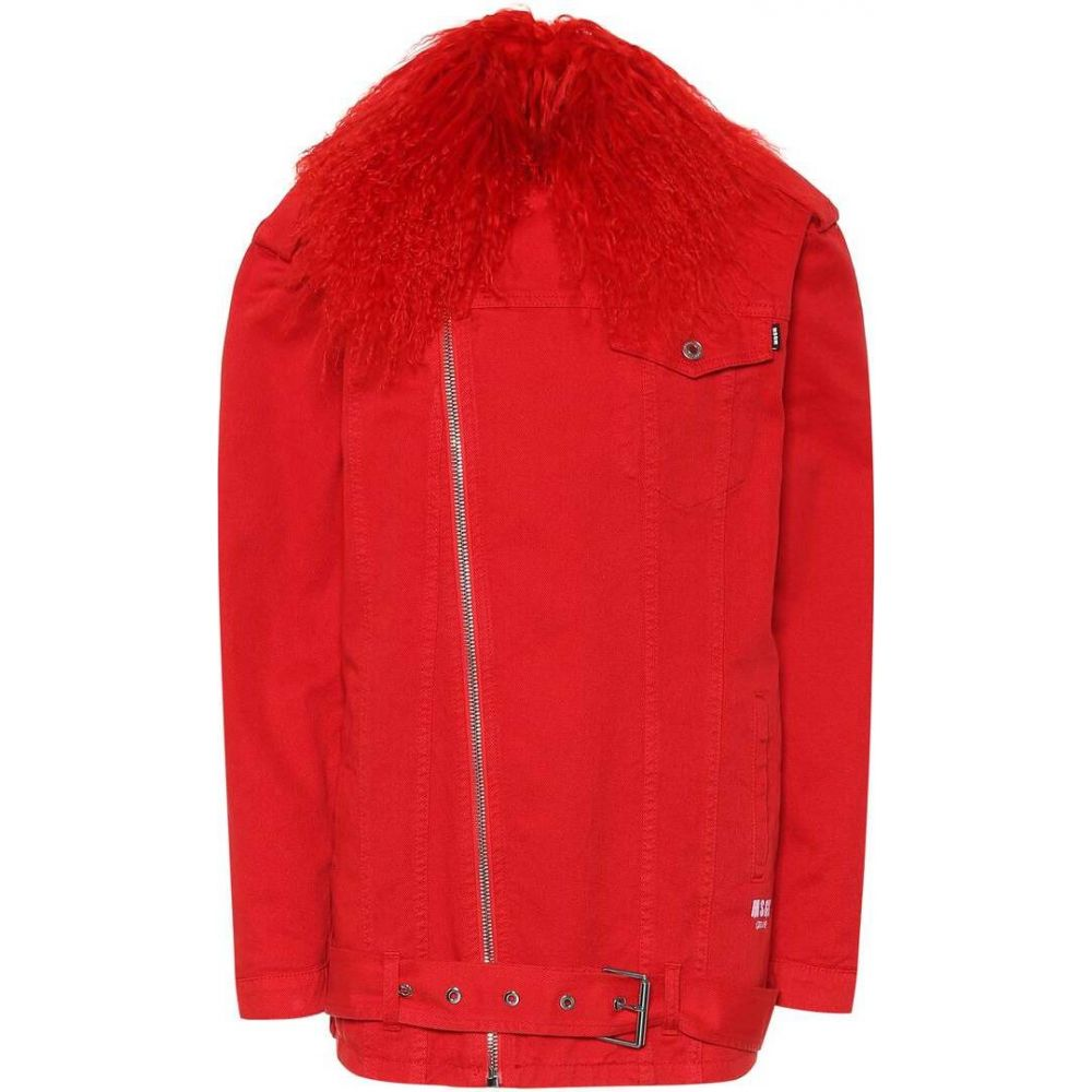 エムエスジーエム MSGM レディース ジャケット Gジャン アウター【Fur-trimmed denim jacket】
