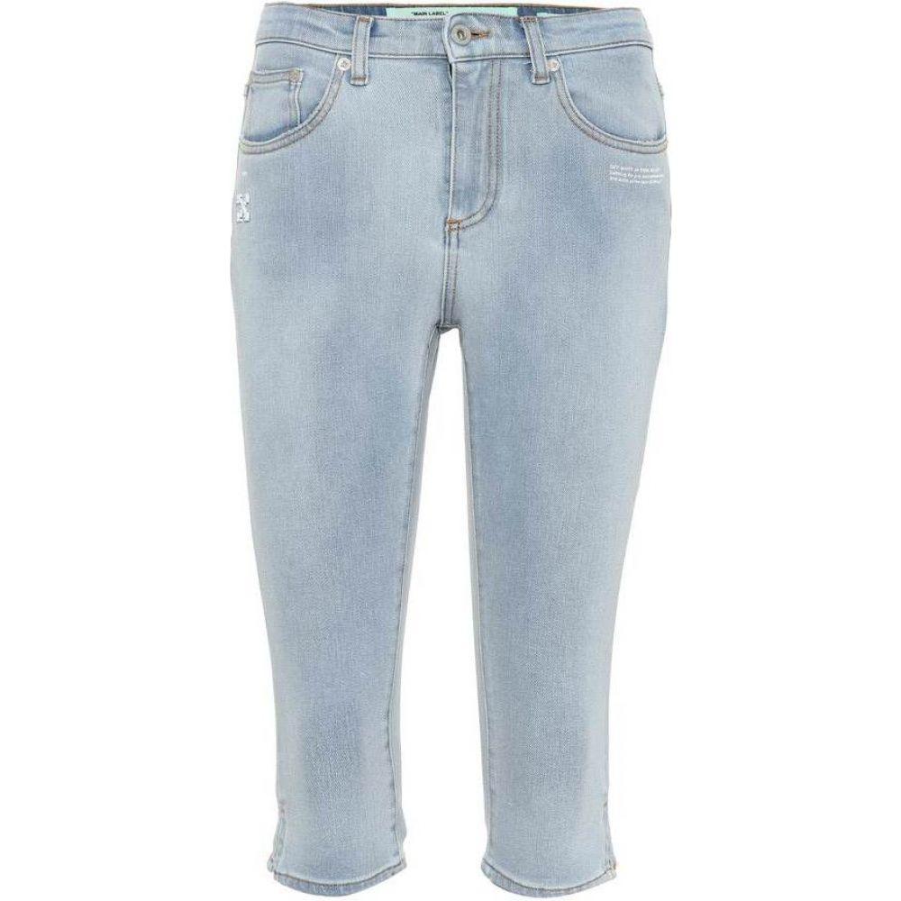 オフホワイト Off-White レディース ジーンズ・デニム ボトムス・パンツ【Cropped jeans】Bleach No Color