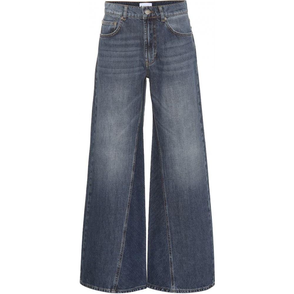 ガニー Ganni レディース ジーンズ・デニム ボトムス・パンツ【Mid-rise wide-leg jeans】mid blue