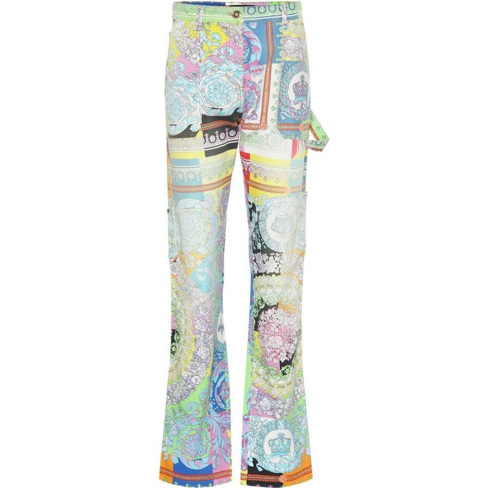 ヴェルサーチ Versace レディース ジーンズ・デニム ボトムス・パンツ【Printed denim jeans】Multicolor