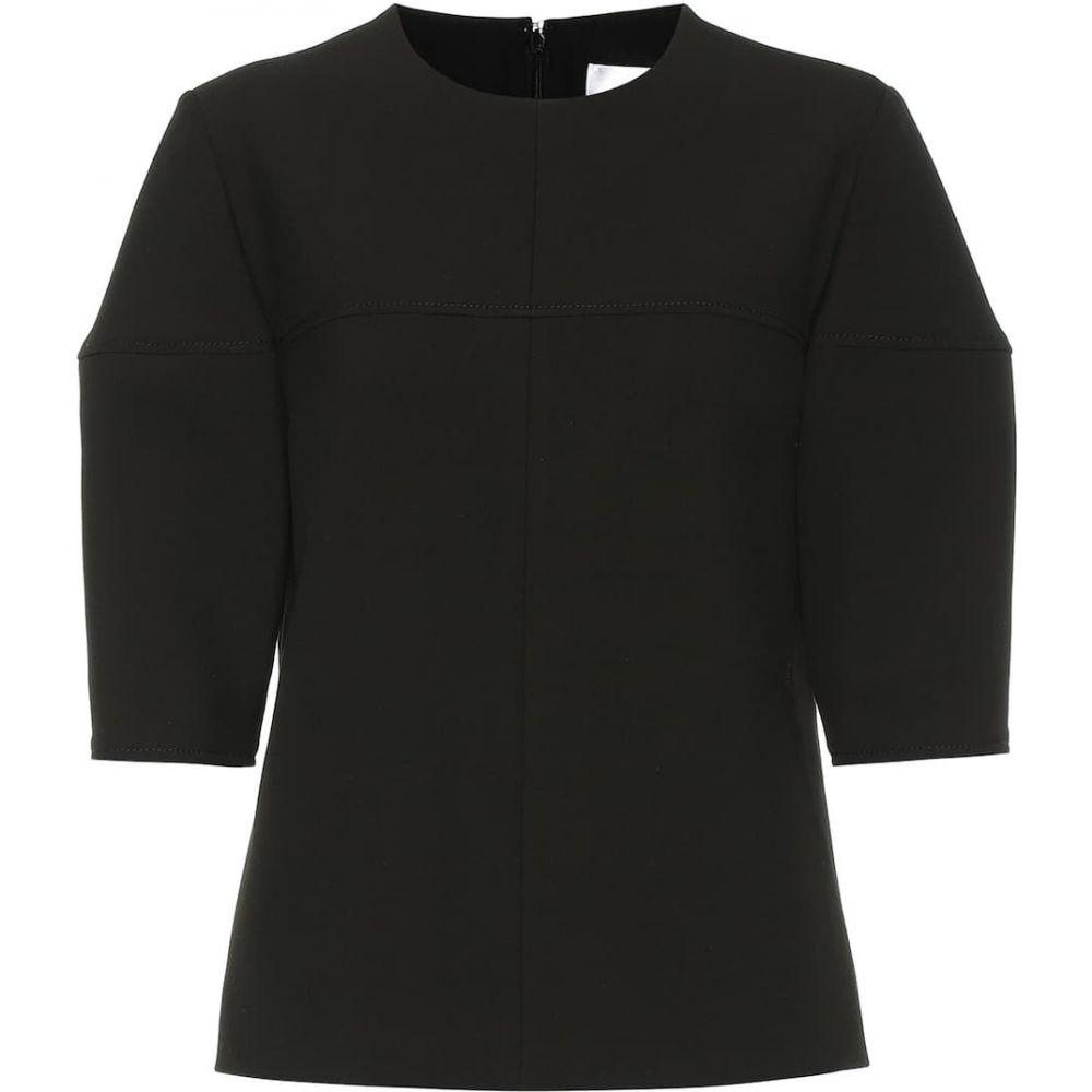 ヴィクトリア ベッカム Victoria Victoria Beckham レディース トップス 【Structured-sleeve stretch top】Black