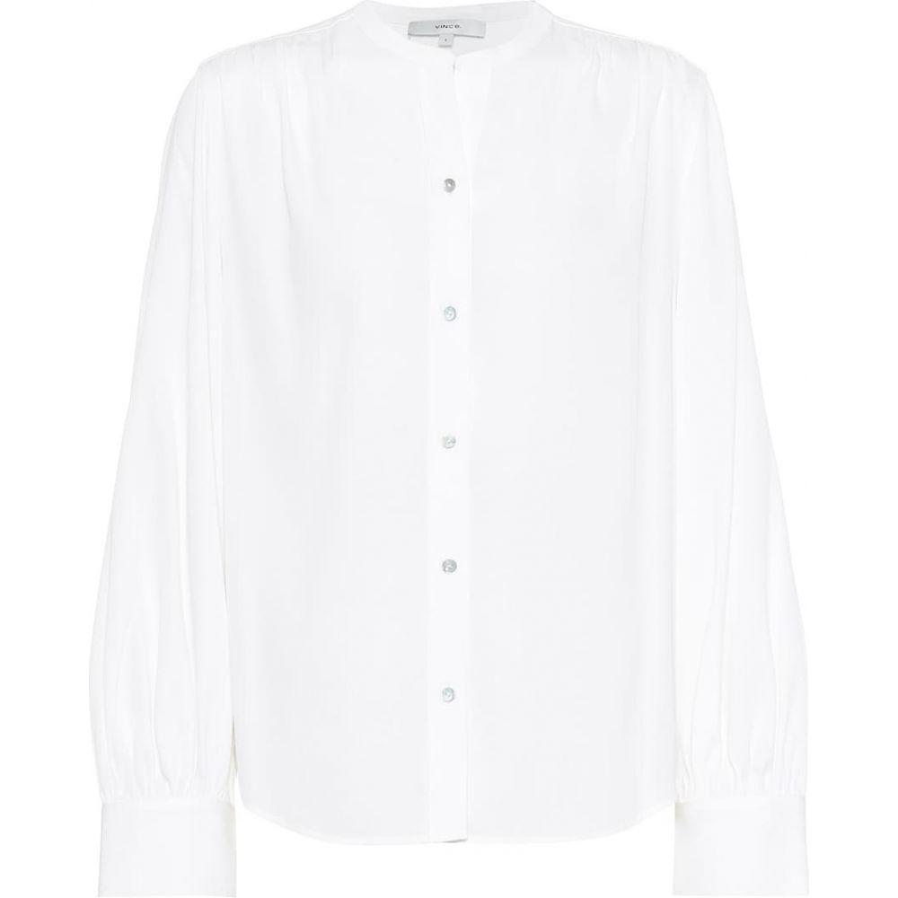 ヴィンス Vince レディース ブラウス・シャツ トップス【Stretch silk-satin blouse】Optic White