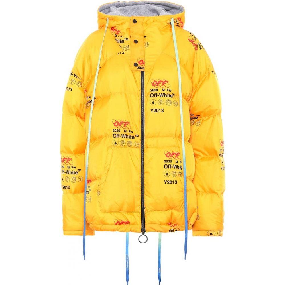 オフホワイト Off-White レディース ダウン・中綿ジャケット アウター【Printed down jacket】Yellow
