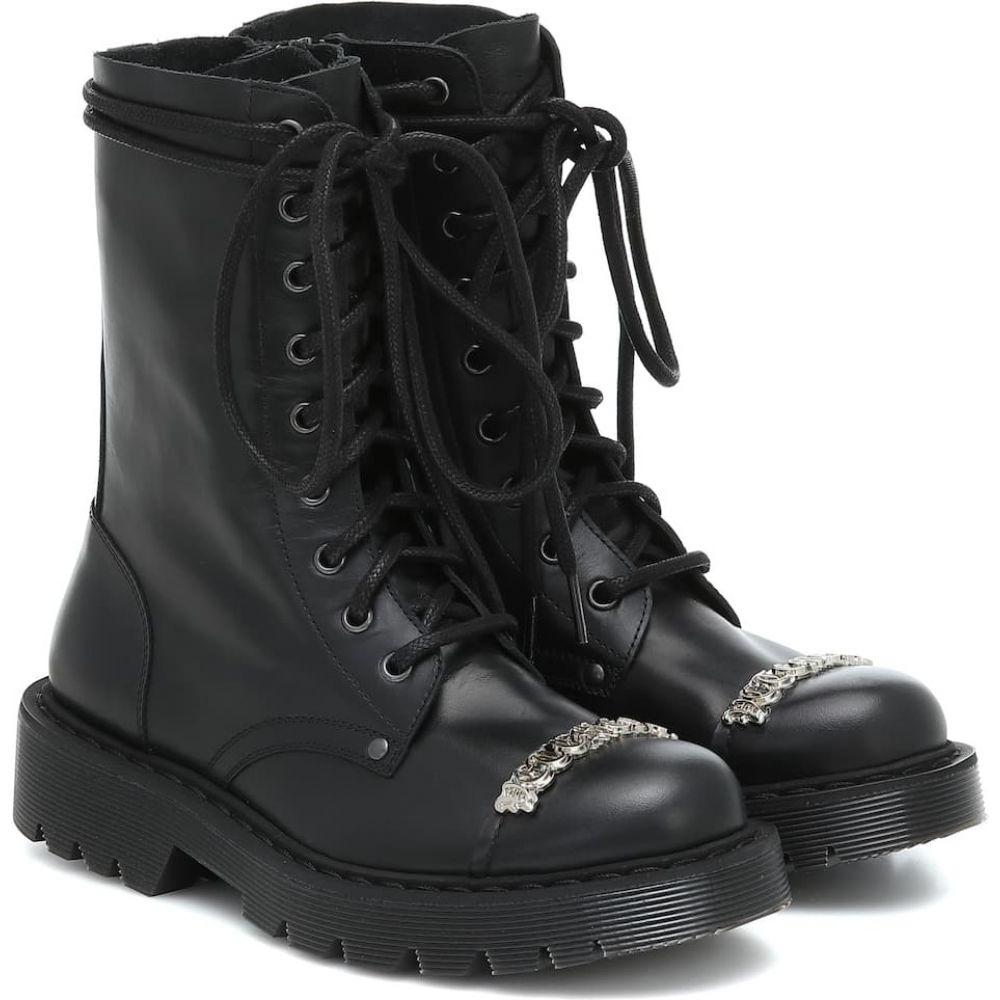 ヴェトモン Vetements レディース ブーツ ショートブーツ シューズ・靴【Logo leather ankle boots】Black