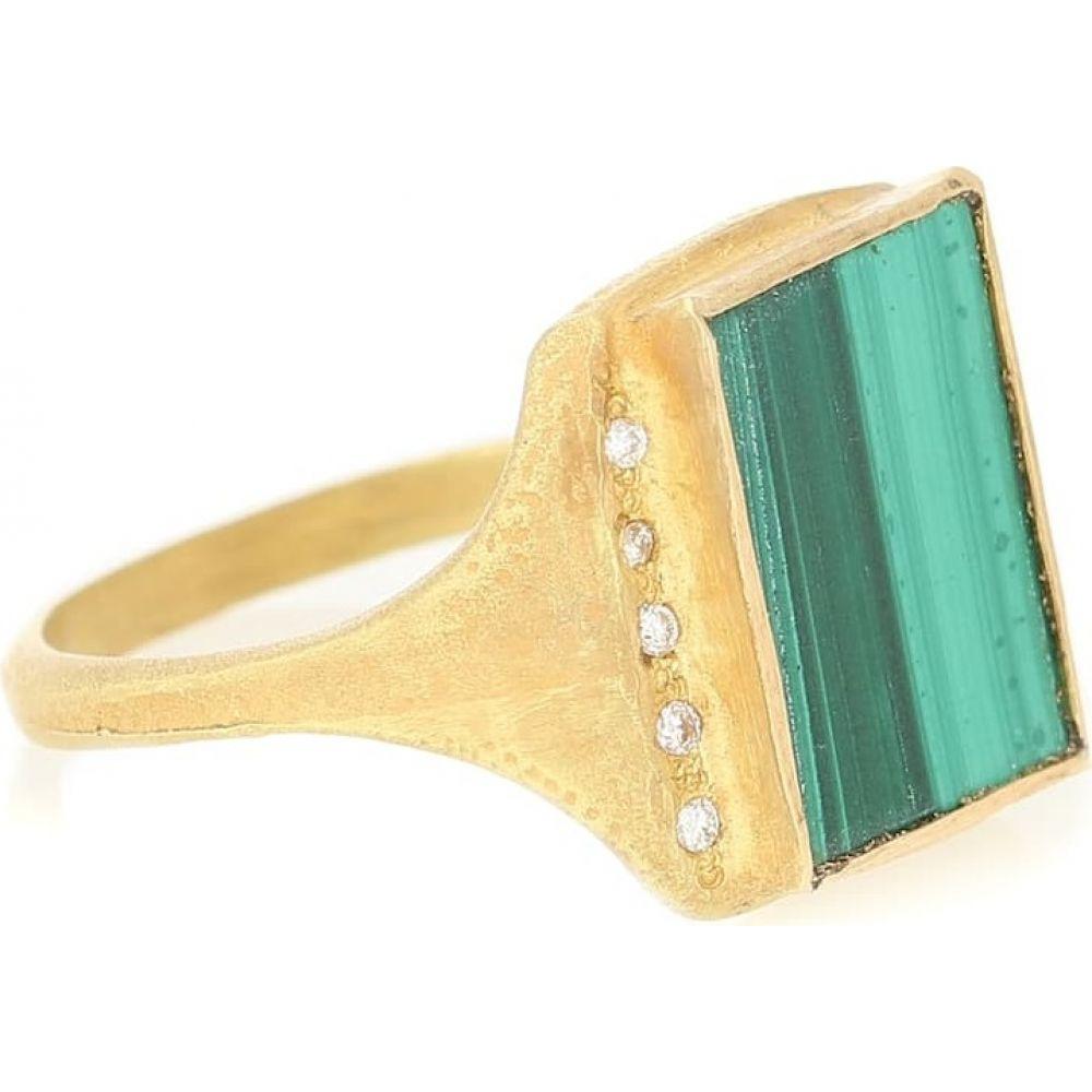 エルハナティ Elhanati レディース 指輪・リング ジュエリー・アクセサリー【Roxy Signature 18kt gold ring with malachite and diamonds】