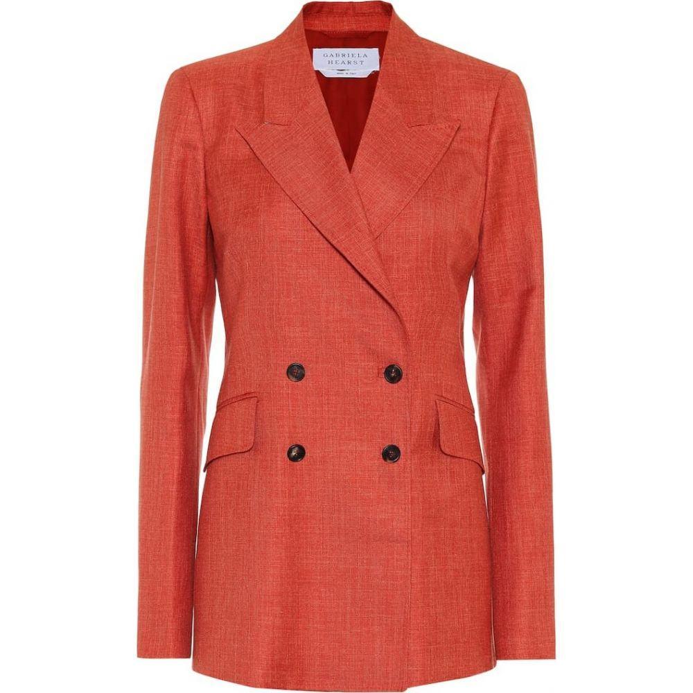 ガブリエラ ハースト Gabriela Hearst レディース スーツ・ジャケット アウター【Angela wool-blend blazer】Orange