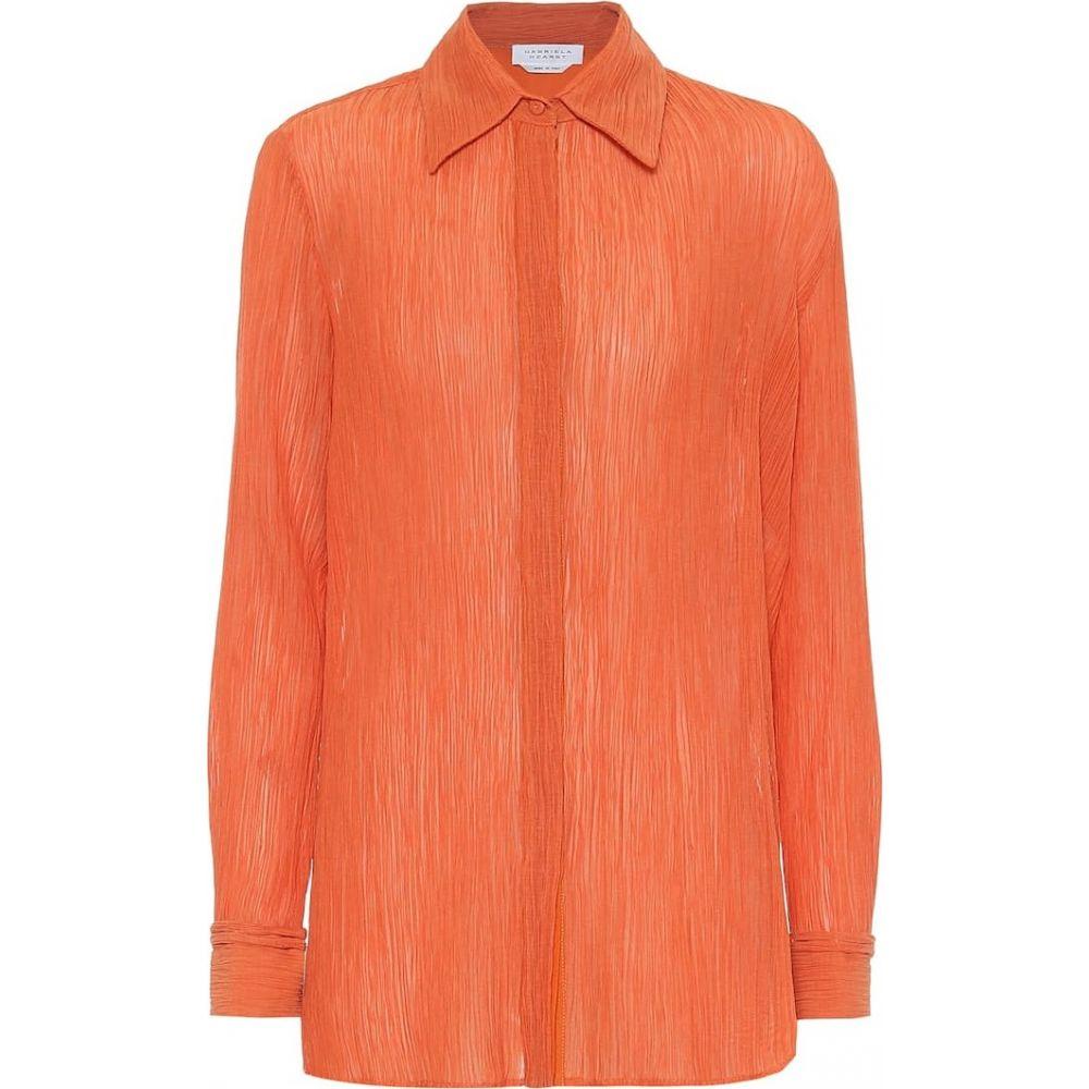 ガブリエラ ハースト Gabriela Hearst レディース ブラウス・シャツ トップス【Cruz cotton and silk shirt】Spice