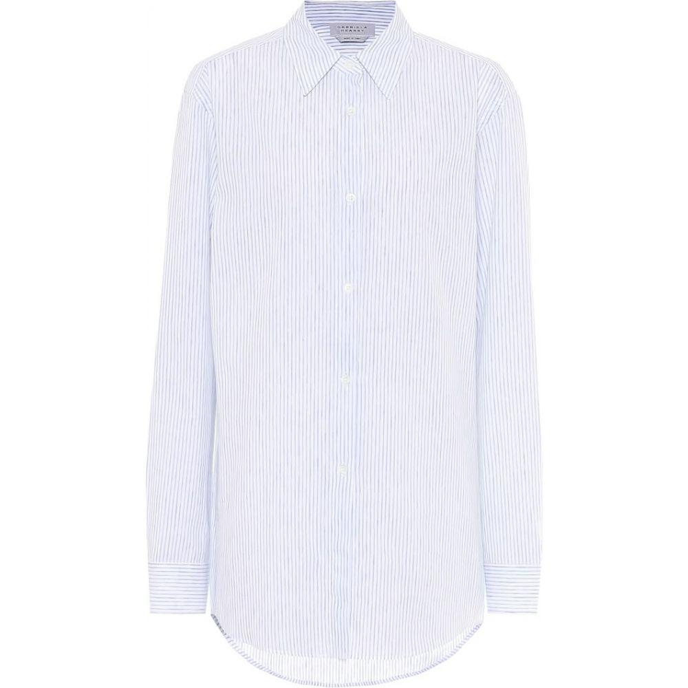 ガブリエラ ハースト Gabriela Hearst レディース ブラウス・シャツ トップス【Reyes striped cotton and linen shirt】Slub Stripe