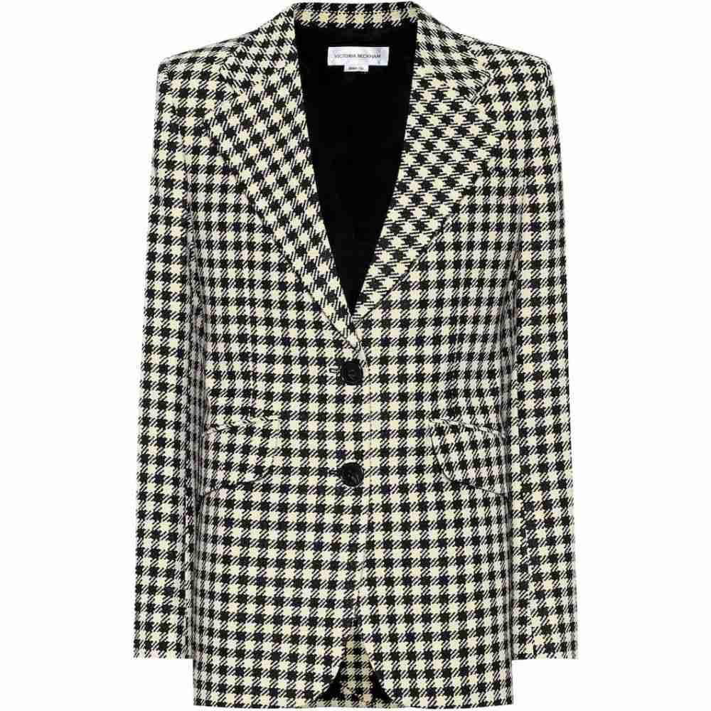 ヴィクトリア ベッカム Victoria Beckham レディース スーツ・ジャケット アウター【Houndstooth single-breasted blazer】Cream/Black