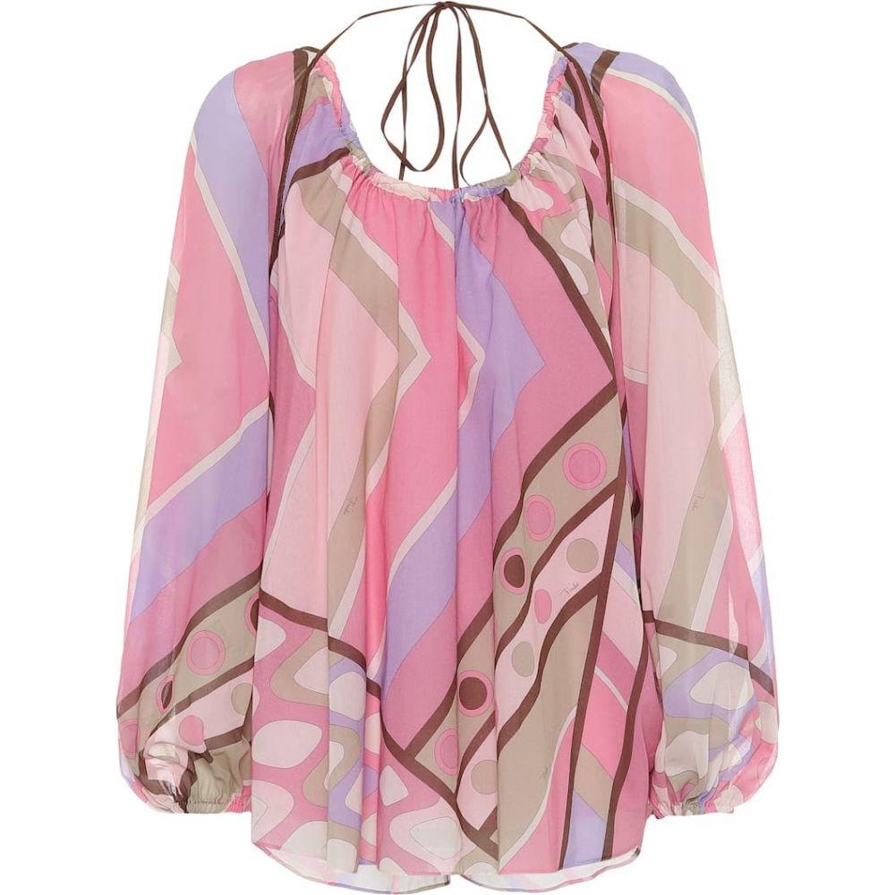 <title>エミリオ プッチ レディース トップス ブラウス シャツ サイズ交換無料 Emilio 選択 Pucci Printed cotton blouse Pink</title>
