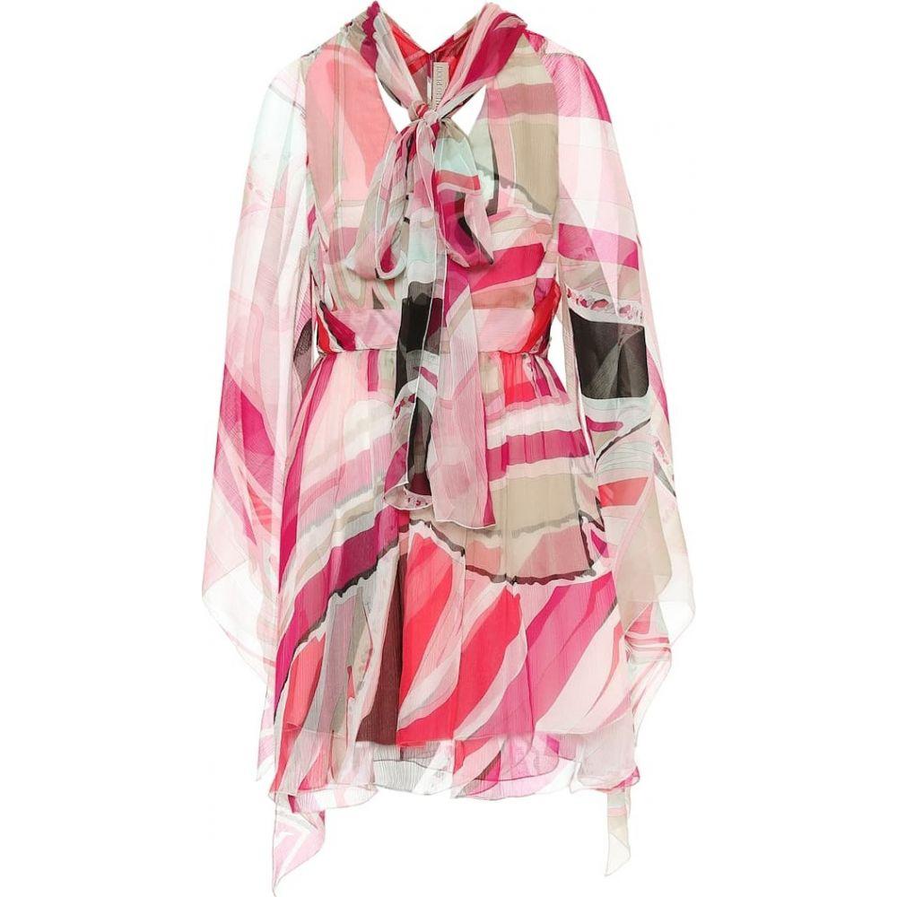 エミリオ プッチ Emilio Pucci レディース ワンピース ワンピース・ドレス【Printed silk dress】Fuschia