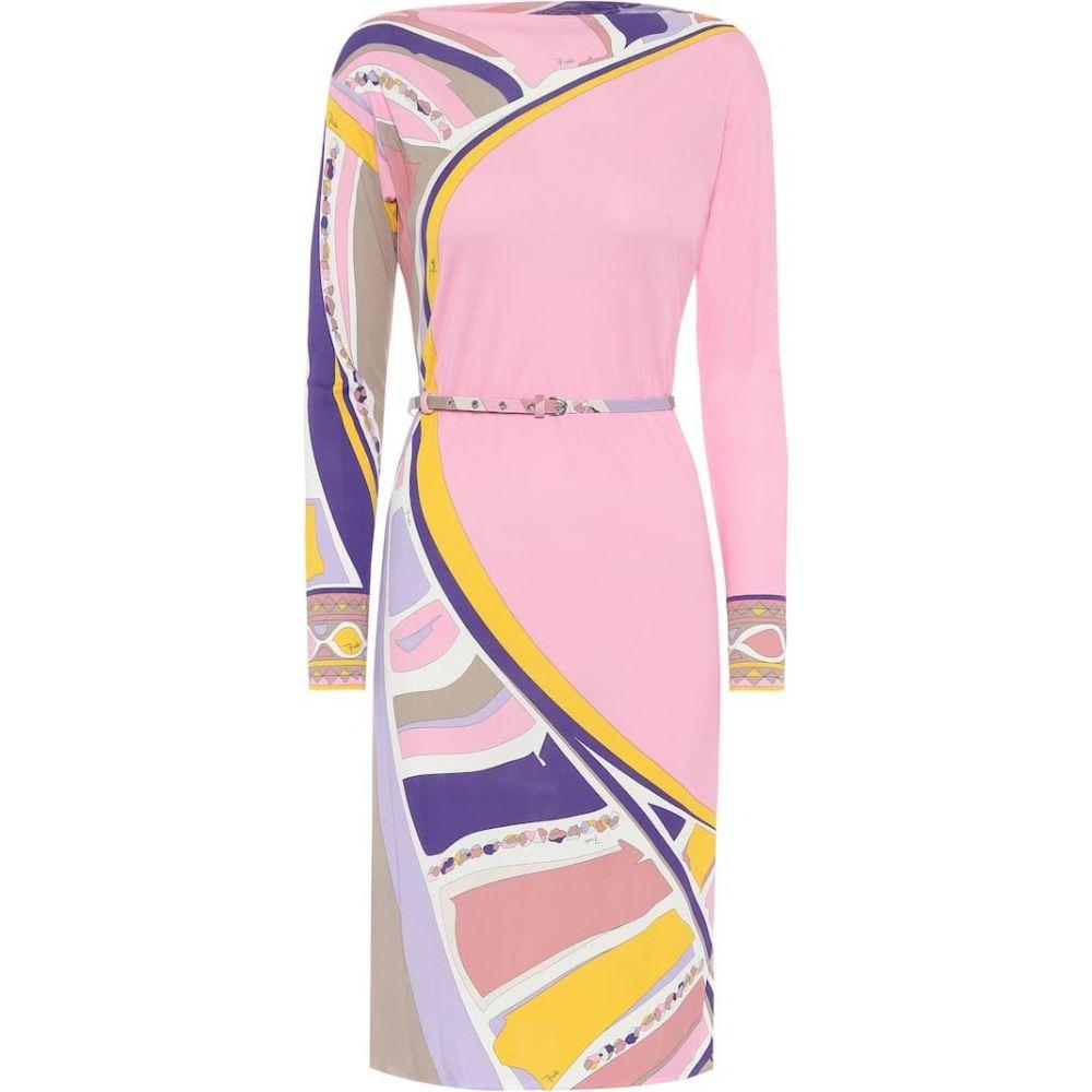エミリオ プッチ Emilio Pucci レディース ワンピース ワンピース・ドレス【Printed crepe dress】Pink