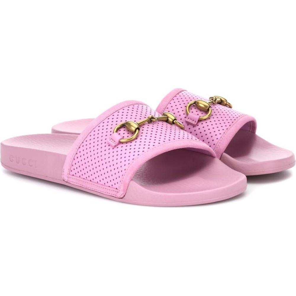グッチ Gucci レディース サンダル・ミュール シューズ・靴【Horsebit leather slides】Malva