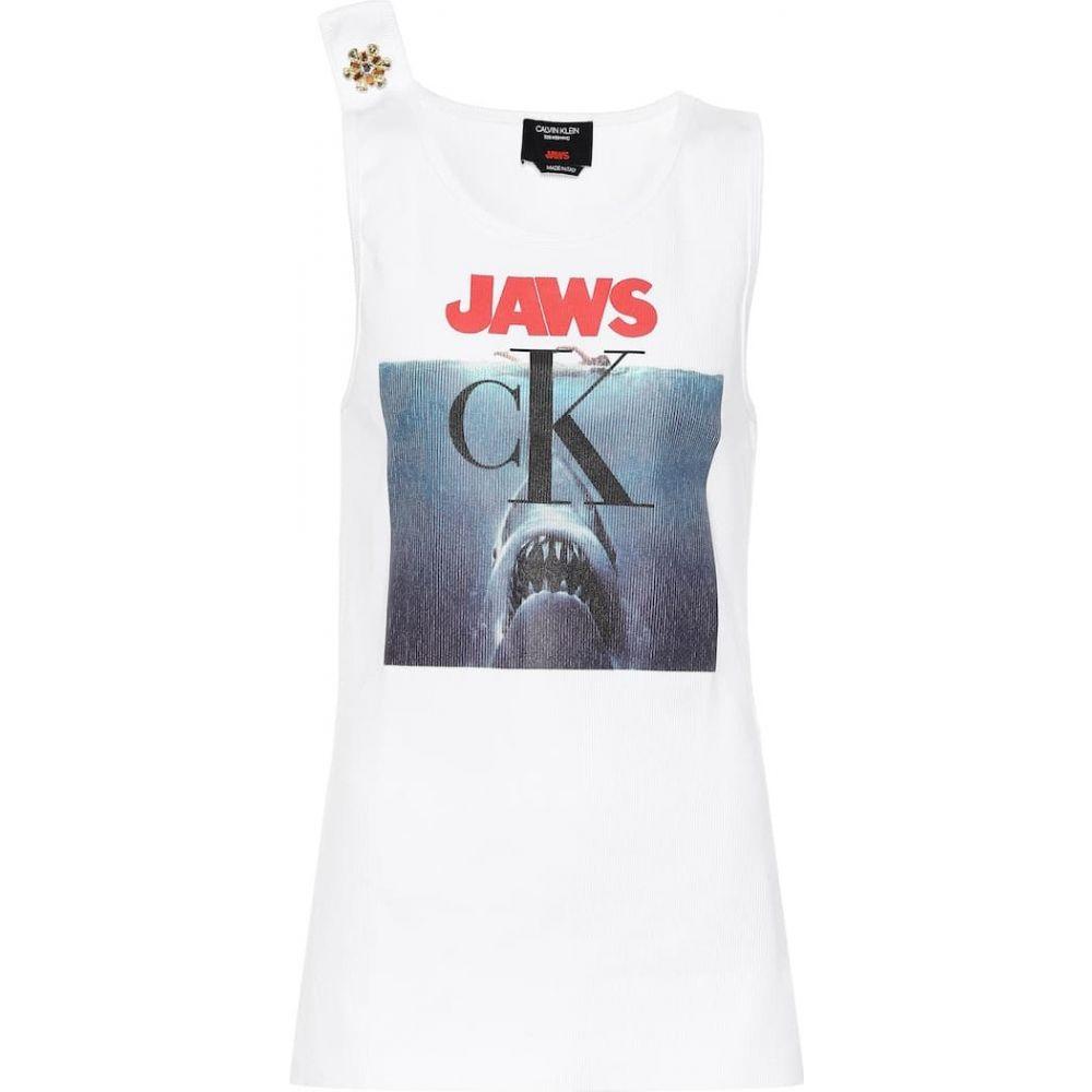 カルバンクライン Calvin Klein 205W39NYC レディース タンクトップ トップス【Crystal-embellished tank top】