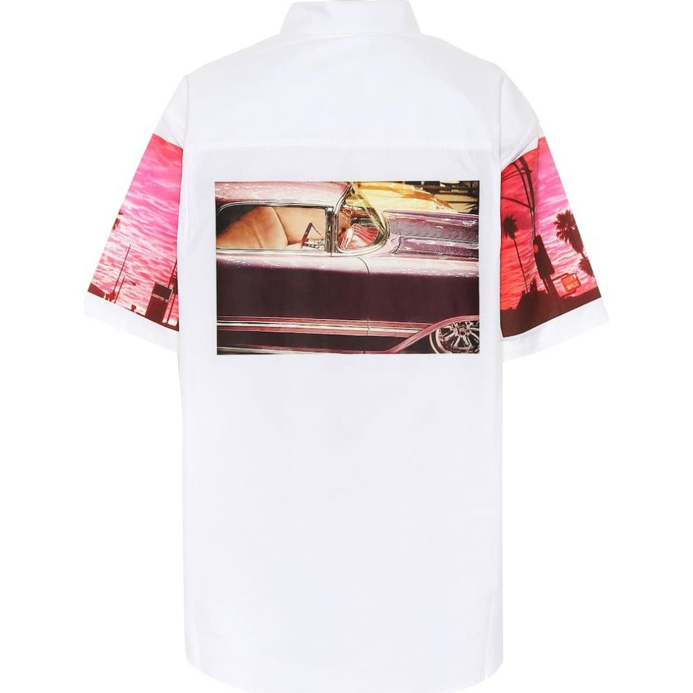 カルバンクライン Calvin Klein Jeans Est. 1978 レディース ブラウス・シャツ トップス【Printed cotton shirt】White Triptic Car
